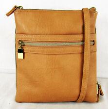 ** STELLA & MAX Tan Faux Leather Crossbody Bag