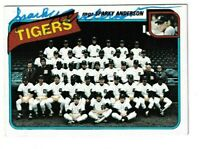 1980 Topps Sparky Anderson Autographed Card - Detroit Tigers TTM - #626