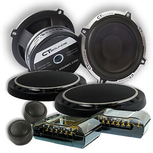 CT Sounds Meso 5.25 Inch 2-Way Car Audio Full Range Component Speakers Set