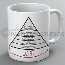 The Modern Maslow Hierarchy Of Human Needs Mug Psychology Wifi Internet Tea Gift
