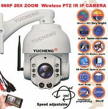 YUCHENG Wireless WiFi 20X Optical Zoom PTZ IP Camera HD 960P 1.3MP 150M IR ONVIF