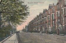 London Postcard. Beaufort Street. Chelsea. A.F. Vedy. Mailed 1908