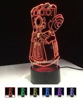 The avengers thanos hulk 3d lamp figure los vengadores superheroes toy toys