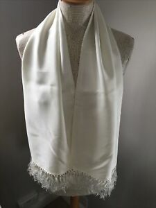 Beautiful Vintage Mens Gentlemans White Tootal Evening Scarf Classic