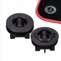 2pcs Fixing Grips Floor Holders Car Mat Anti Slip Carpet Clips Knob Pads Black