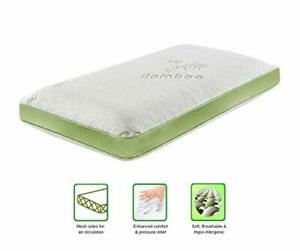Memory Foam Cot Mattress Ultra Soft Organic Bamboo Zipped Cover Anti Bacteria