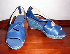 Blue Crossover Front Shoes Size 5 (38)