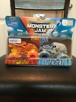 Hot Wheels Monster Jam Fire & Ice Walmart Exclusive Set  (Rare)