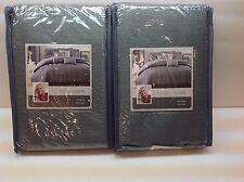Candice Olson VICE VERSA Green/Blue Shimmering EURO SHAM SET! $90 NIP! 2 PC SET!
