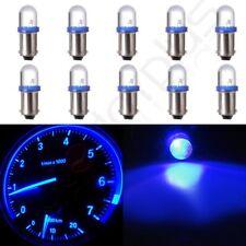10X BA9S Xenon Blue LED Lamp Instrument Cluster Panel Dash Light Bulbs For Ford