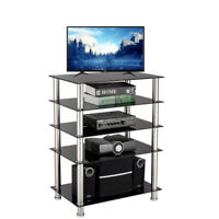 TV Stand for 60 in Entertainment Center Media Storage 5 Shelf  Audio Video Table