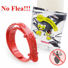 Adjustable Red Cat Dog Kitten Collar Neck Strap Remedy Anti Flea Mite Acari Tick