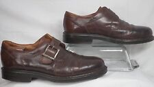 Johnston & Murphy Brown Leather Monk Strap Dress Shoe Men Size 10.5 M