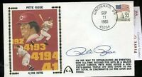 Pete Rose 1985 4193 Hits Signed Jsa Certed Fdc Autograph Authentic