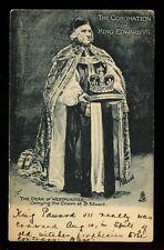 Royalty Coronation KING EDWARD VII early u/b PPC used 1902