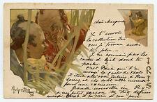 """A. HOHENSTEIN. SéRIE  """"LES IRIS """"  ART NOUVEAU. 1898"""