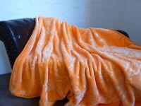 Luxus Tagesdecke Kuscheldecke Wohndecke Decke Plaid orange 160x200cm