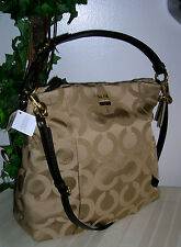 Coach Madison Op/Art Isabelle Signature Bag/Handbag/Hobo Bag/Purse nwt Coach Bag