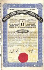 Original Canada 1938 5% Bond Eastern Rivers Investment Co 1 share $25 coupons