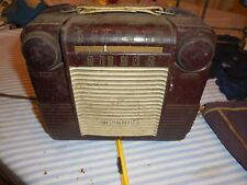 Vintage Westinghouse H312P4 AC/DC Portable (1950)Portable Tube Radio Maroon