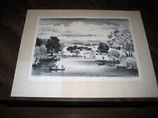 "Adolf Dehn ""Summer Day"" Signed Original Limited Edition Lithograph"