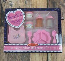 Melissa & Doug Mine to Love  Time to Eat Baby Food & Bottle 8 Piece Feeding Set