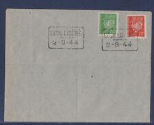 p/ enveloppe  Lyon  Libéré  2 - 9 - 1944