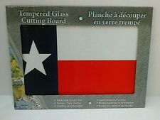 NEW Texas Tempered Glass Kitchen Cutting Board, State Flag of Texas