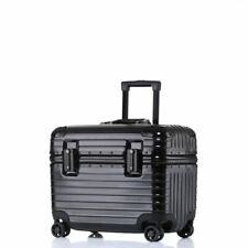 Small top flap trolley suitcase, black 18-inch