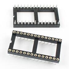 10Pcs 2.54mm Pitch 28 Pin DIP Round Pin Solder IC Socket Adaptor Wide
