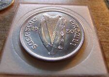 AU NICE 1930 Ireland 1/2 Half CROWN 2s6d 1/2 Coiron 2s6d with Holder Very RARE