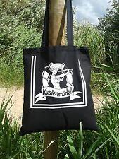 Küstenmädel Ahoi Beutel Matrose schwarz Rockabilly Einkaufstasche Seemannsbraut