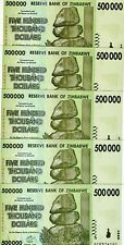 LOT Zimbabwe, 5 x 500,000 (500000) dollars, 2008, P-76, UNC