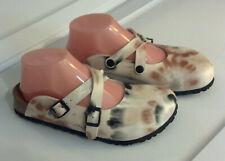 NIB BIRKENSTOCK BIRKI'S Sandals DORIAN Batik Pattern Brown EU 37 - US 6.5-7N