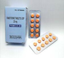 Famotidine 20mg Complete Acid Reducer & Antacid Heart Burn Reliever 100 Tablets