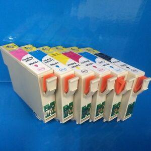 Set Printer Ink Cartridges Epson Stylus Photo R1400 R1500 R1500W R 1500 Non OEM