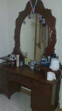 Antique Narra Bed / Dresser And Wine Rack