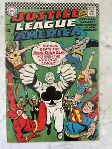 JUSTICE LEAGUE OF AMERICA #43-1ST APPEARANCE ROYAL FLUSH GANG-SILVER-VF 8.0