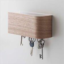 Wood Grain Design Magnet Key Hook Home Decoration Urban Natural Color 7359