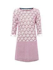 Linen Blend Round Neck 3/4 Sleeve Casual Dresses for Women