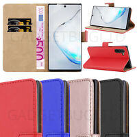 CASE FOR SAMSUNG GALAXY NOTE 10 REAL GENUINE LEATHER SHOCKPROOF WALLET FLIP