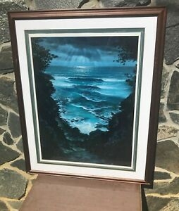 Walfrido Garcia Limited Edition Lithograph Heavely View Ocean Moonlight Fine Art