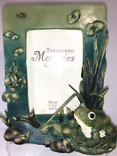 Ganz Treasured Memories 3� X 5� Photo Frame 3D Pond With Frogs On Lily Pads