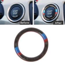Car Key Start Button Ring Decor Carbon Fiber Trim For BMW E90/E92/E93