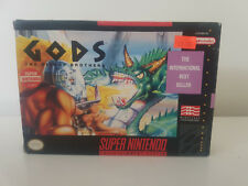 GODS- SNES SUPER NINTENDO ENTERTAINMENT SYSTEM NTSC BOXED COMPLETE