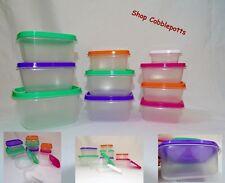 20 Pc (10 containers & 10 lids) Plastic Food Storage Set 1C, 1/2C, 1/4C, 1TBSP