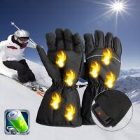 HOT Beheizbare Motorradhandschuhe Winter Wärmer Motorrad Skifahren Handschuhe AB