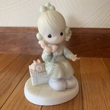 """Precious Moments - """"Tell it to Jesus"""" 1989 Girl w/ Telephone Figure 521477"""