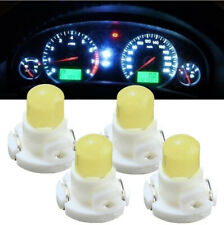 4x T4 White Neo Wedge LED Bulb Dash Climate Control Instrument Base Light Lamps