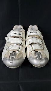 Women's EU 39/US Size 7 -  Pearl Izumi White 3-Strap Road Cycling Shoes